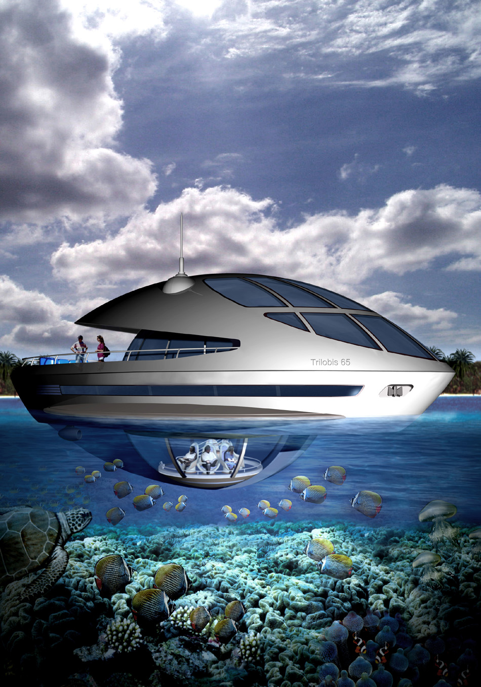 Eco-Yacht & Houseboat | Trilobis 65 by Giancarlo Zema